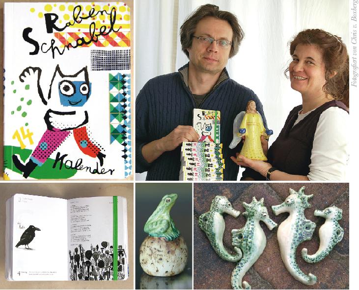 Achim und Chris v. Boxberg - Grafik Illustration Keramik