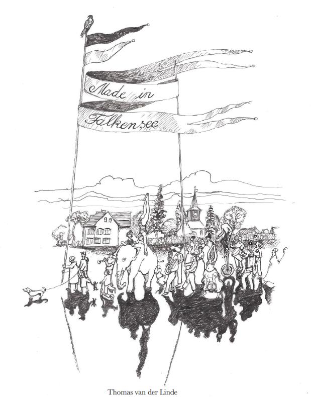 Falkenseer Kreativ-Zirkus, Zeichnung von Thomas van der Linde