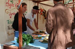 Kunstmeile zum Stadtfest 2015 - Refugee Kitchen